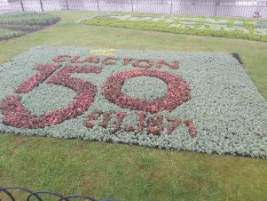Clacton 150 flower bed in the seafront gardens