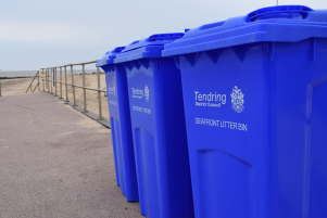 New larger seafront bins