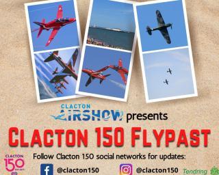 Clacton Airshow presents Clacton 150 flypast