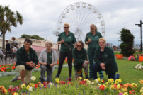 Gardening volunteers at Clacton seafront gardens